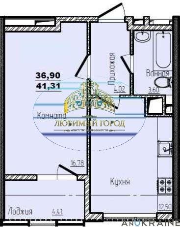 продажа однокомнатной квартиры номер A-92633 в Киевском районе, фото номер 1